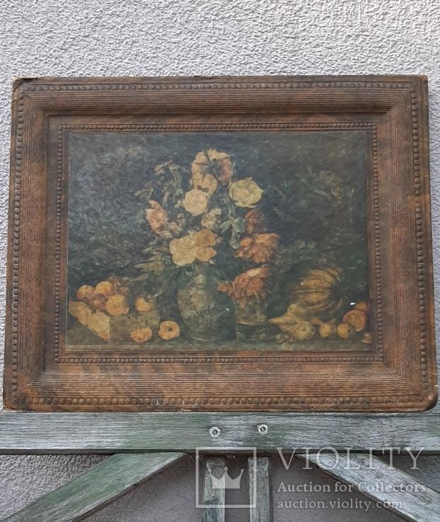 """""""Цветы и фрукты""""х-к И.Т.Хруцкий,репродукция 1979 год, фото №2"""