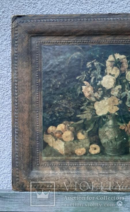 """""""Цветы и фрукты""""х-к И.Т.Хруцкий,репродукция 1979 год, фото №4"""