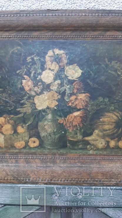 """""""Цветы и фрукты""""х-к И.Т.Хруцкий,репродукция 1979 год, фото №6"""