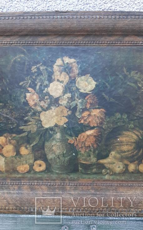 """""""Цветы и фрукты""""х-к И.Т.Хруцкий,репродукция 1979 год, фото №7"""