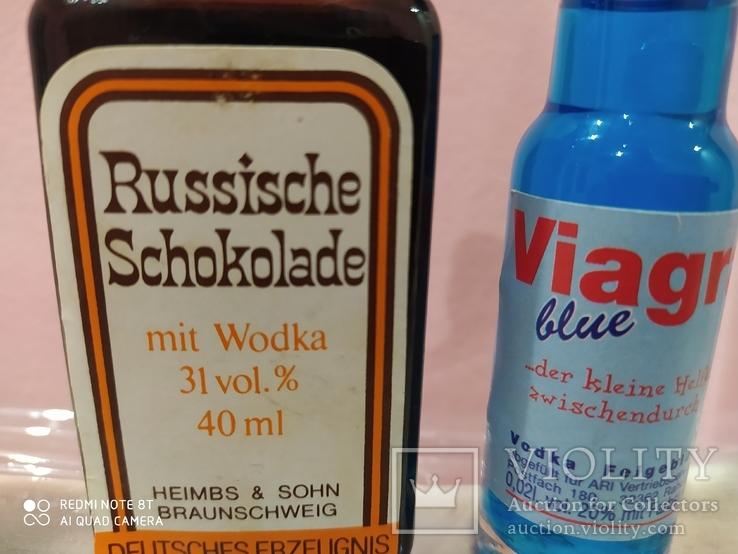 2 мини бутылочки ликер с водкой 60-90 годов, фото №2