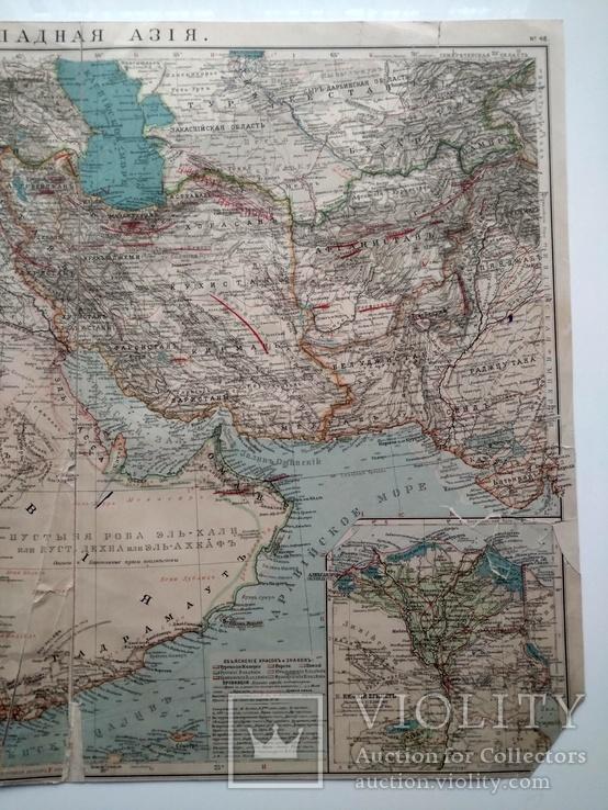 Западная Азия 1905 (карта 51 х 39, русский язык), фото №4