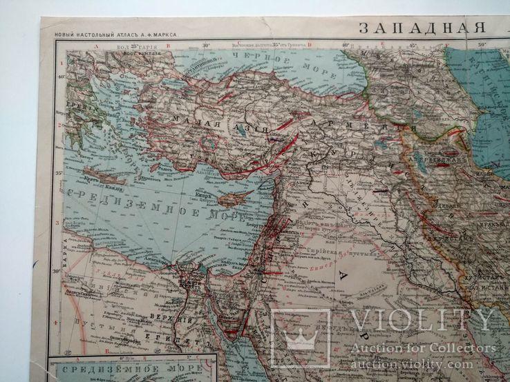 Западная Азия 1905 (карта 51 х 39, русский язык), фото №5