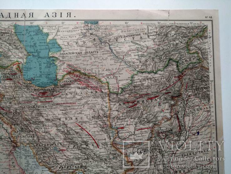 Западная Азия 1905 (карта 51 х 39, русский язык), фото №6