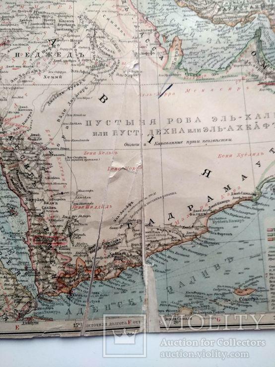 Западная Азия 1905 (карта 51 х 39, русский язык), фото №9