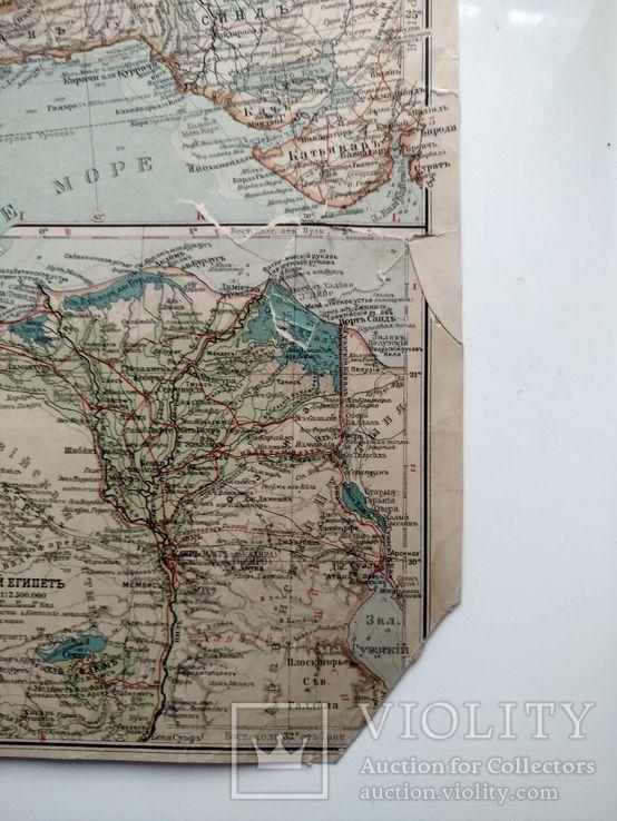 Западная Азия 1905 (карта 51 х 39, русский язык), фото №10