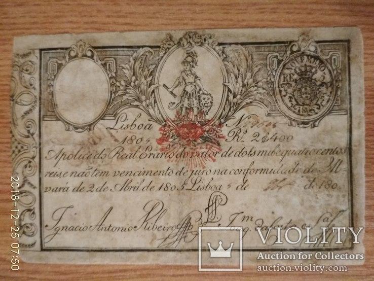 Португалія 2400 реалів 1804 р.
