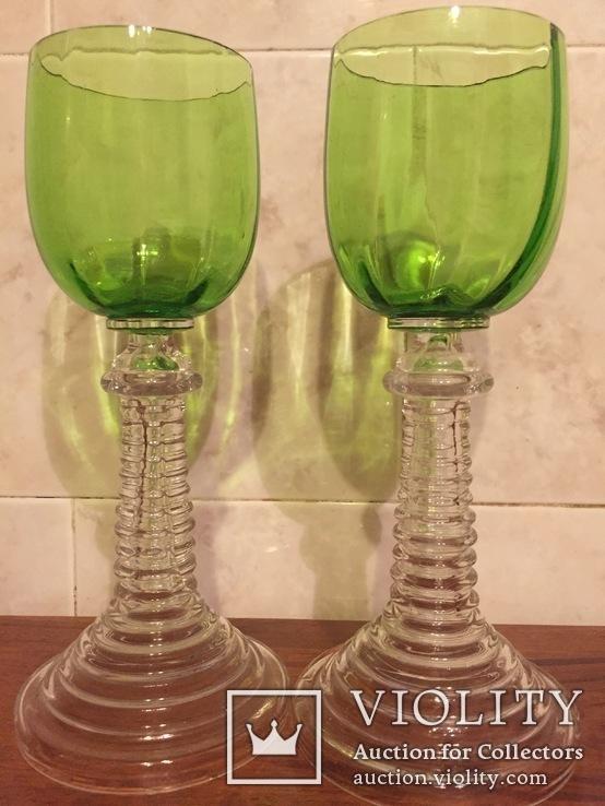 Два старинных бокала, фото №3