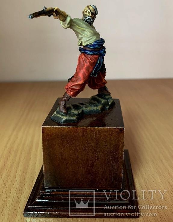 Запорожский казак, 16-18 вв. (оловянная миниатюра), фото №2