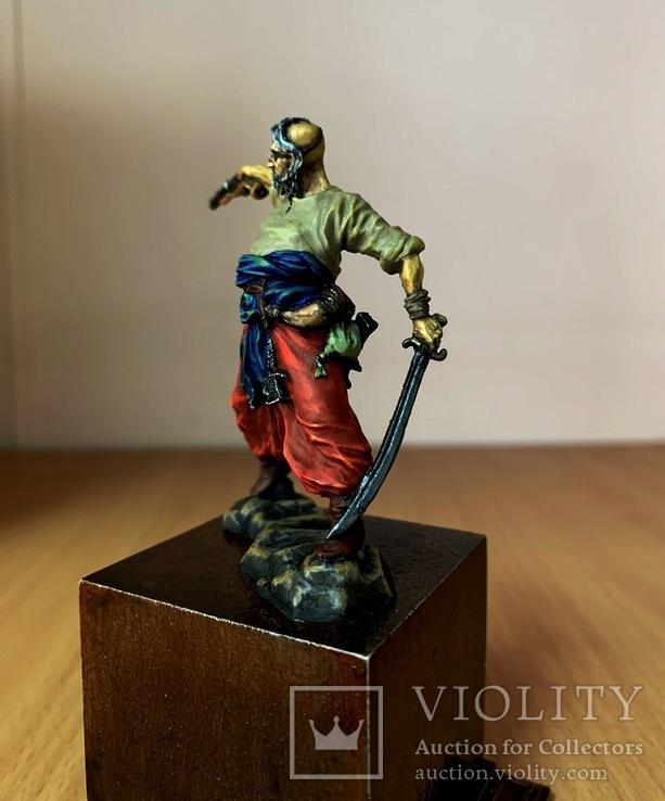Запорожский казак, 16-18 вв. (оловянная миниатюра), фото №4