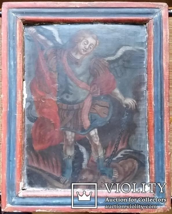 Ікона Архангел Михаїл, 32х25,7 см, фото №2