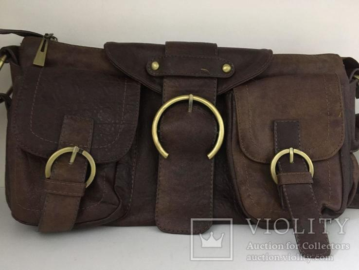 Женская сумка коричневая., фото №2