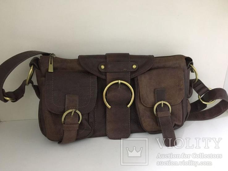 Женская сумка коричневая., фото №3