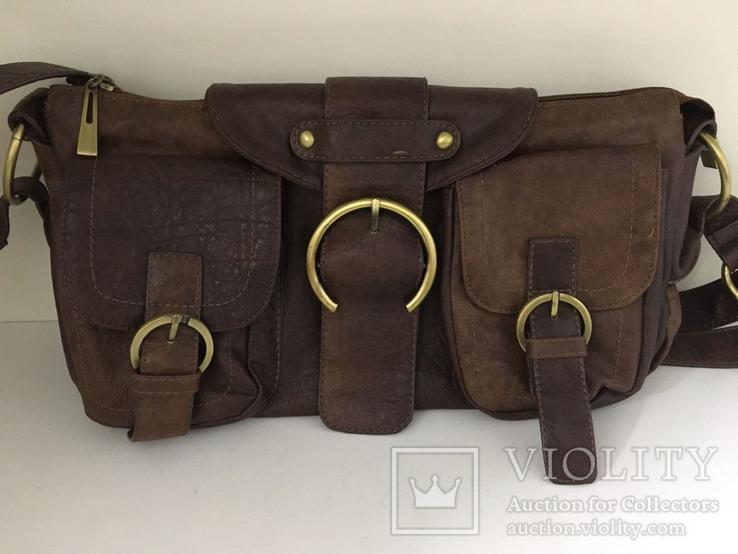 Женская сумка коричневая., фото №4