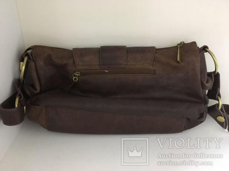 Женская сумка коричневая., фото №5