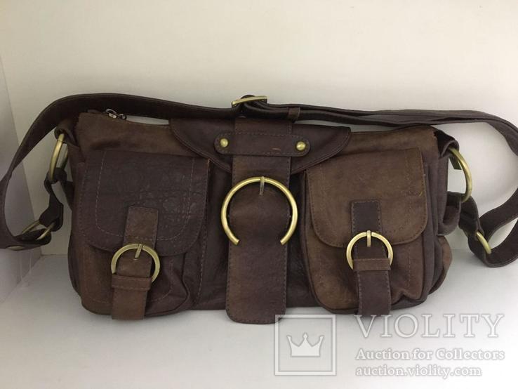 Женская сумка коричневая., фото №6