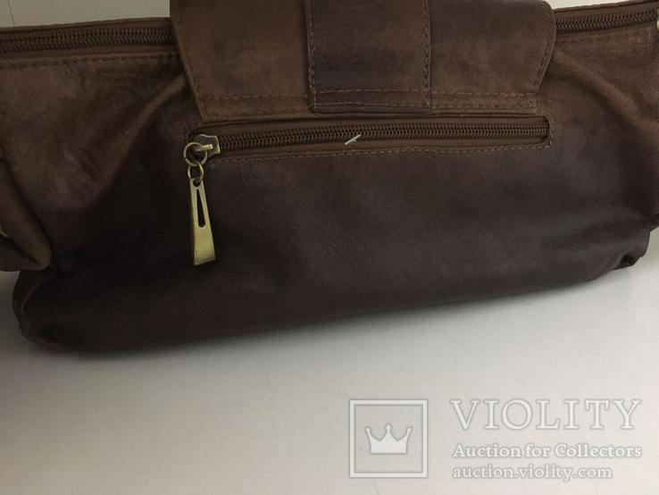 Женская сумка коричневая., фото №7