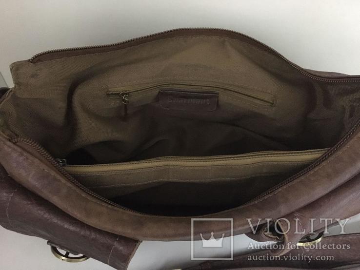 Женская сумка коричневая., фото №8