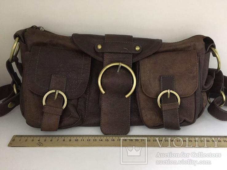 Женская сумка коричневая., фото №9