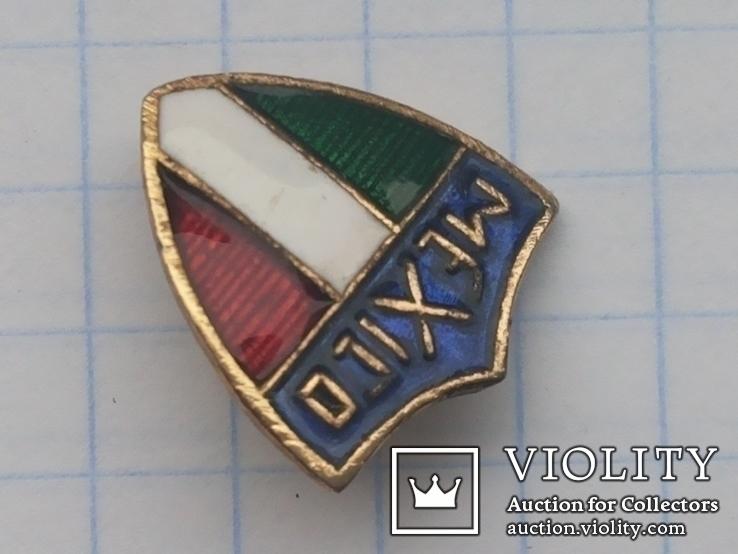 Значок Мехико горячая эмаль иголка 1974, фото №4