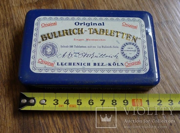 "Жестяная коробка с таблеток ""Bullrich tabletten"", фото №3"
