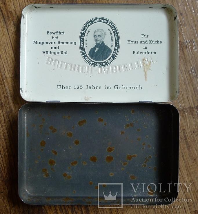 "Жестяная коробка с таблеток ""Bullrich tabletten"", фото №4"