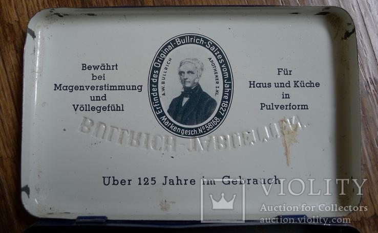 "Жестяная коробка с таблеток ""Bullrich tabletten"", фото №5"