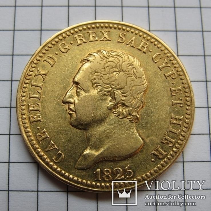 40 лир 1825 года Сардинское королевство, Карло Феличе