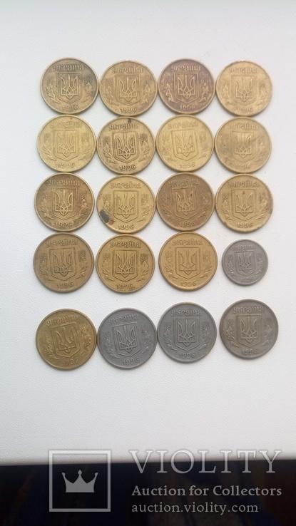 20 монет 1996 р., 19 -25 і 1- 10., фото №13
