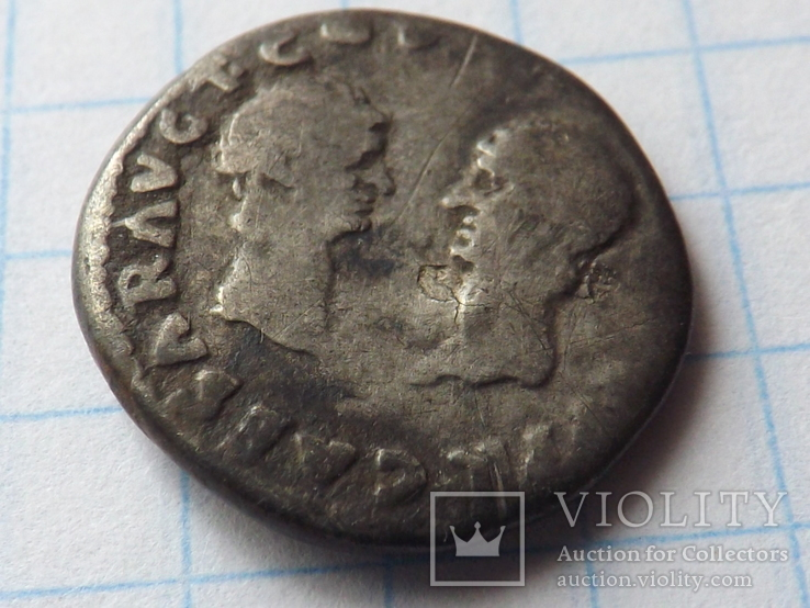 Денарий - Веспасиан с сыновьями.