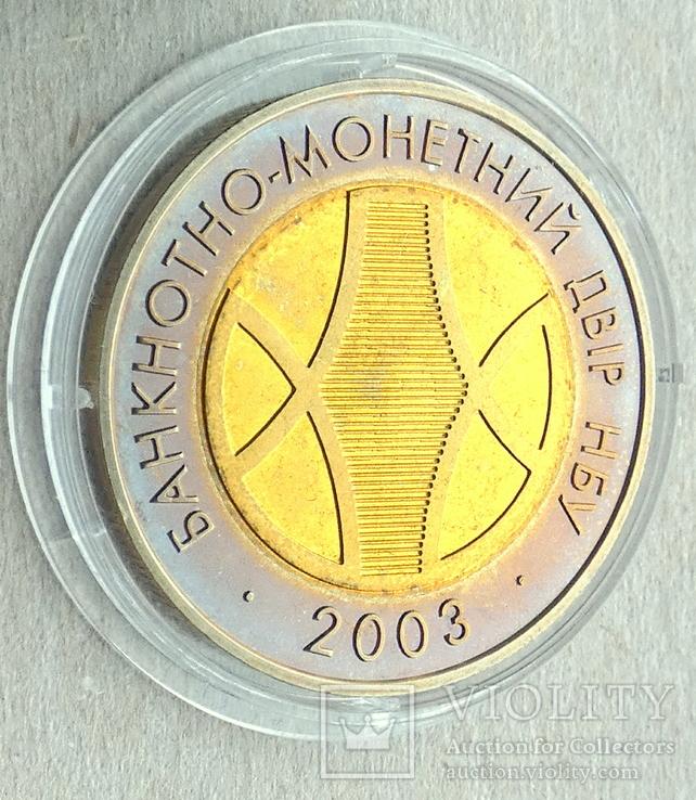 Жетони та медаль НБУ / Графічний знак, Златник, 2003, пам'ятна медаль /, фото №5