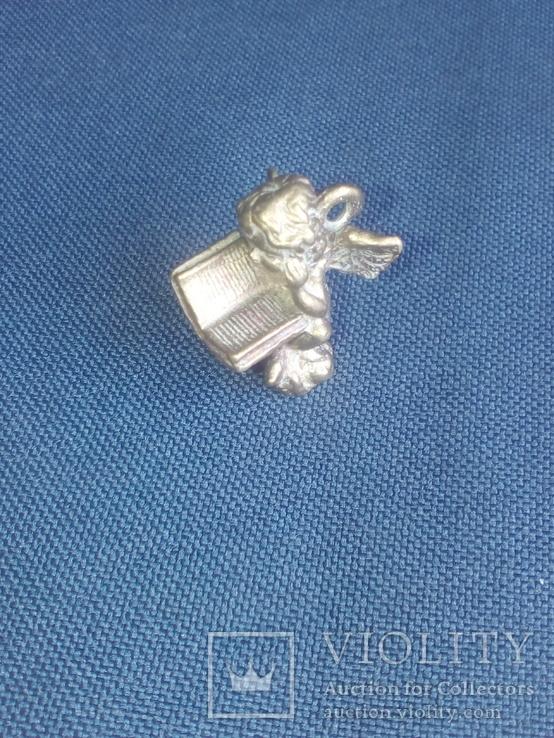 """Коллекционная миниатюра-брелок """"Ангел с книгой"""". Латунь. Германия, фото №2"""