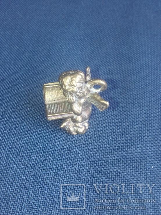 """Коллекционная миниатюра-брелок """"Ангел с книгой"""". Латунь. Германия, фото №4"""