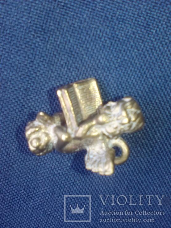 """Коллекционная миниатюра-брелок """"Ангел с книгой"""". Латунь. Германия, фото №8"""