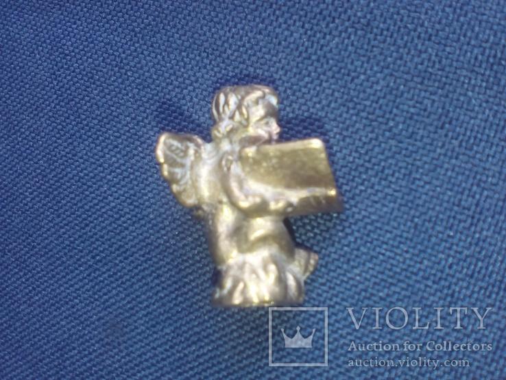 """Коллекционная миниатюра-брелок """"Ангел с книгой"""". Латунь. Германия, фото №10"""