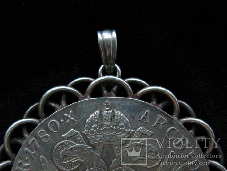 Шикарний старий кулон. Срібло 33грама. Талер 1780р., фото №4