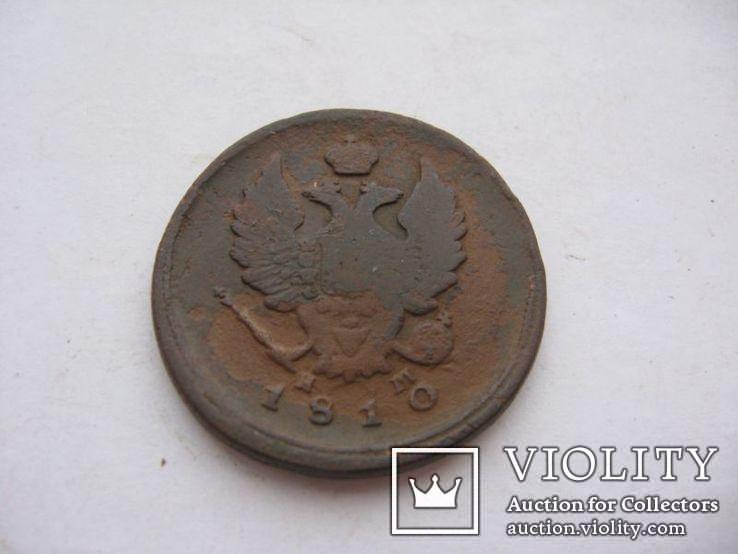 2 копейки 1810 год ЕМ НМ (орел обычный), фото №3