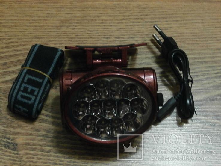 Аккумуляторный налобный фонарь Yajia YJ-1898, фото №3