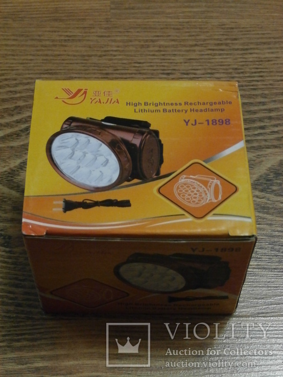 Аккумуляторный налобный фонарь Yajia YJ-1898, фото №6