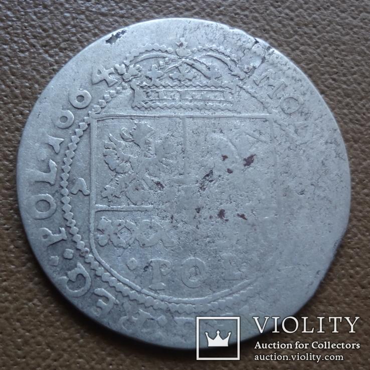 Тымф 30 грош 1664   серебро (Я.4.4)~, фото №2