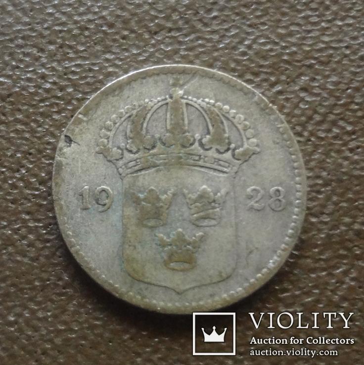10 эре 1928 Швеция серебро (Д.3.6)~, фото №2