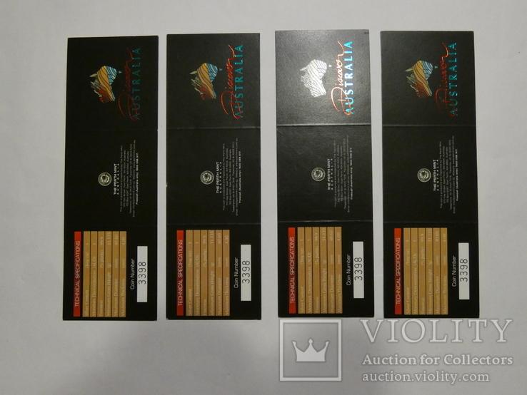 Набор из 5 монет - Открой Австралию - 2006 год, серебро 999, футляр, сертификаты, фото №9