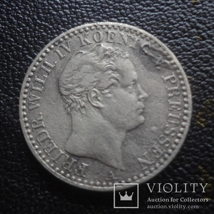 1/6  талера  1843  Пруссия  серебро    (G.1.4)~, фото №2