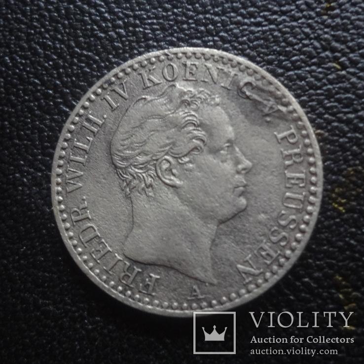 1/6  талера  1843  Пруссия  серебро    (G.1.4)~, фото №3