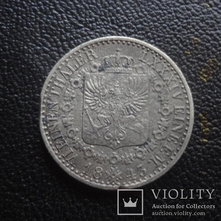 1/6  талера  1843  Пруссия  серебро    (G.1.4)~, фото №4