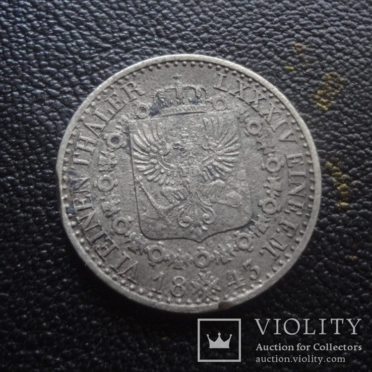 1/6  талера  1843  Пруссия  серебро    (G.1.4)~, фото №5