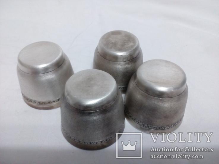 Рюмки покрытые серебром, фото №7