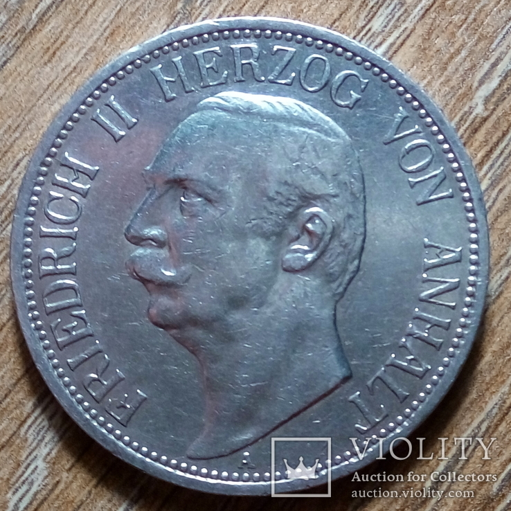 Анхальт 3 марки 1911 г., фото №2