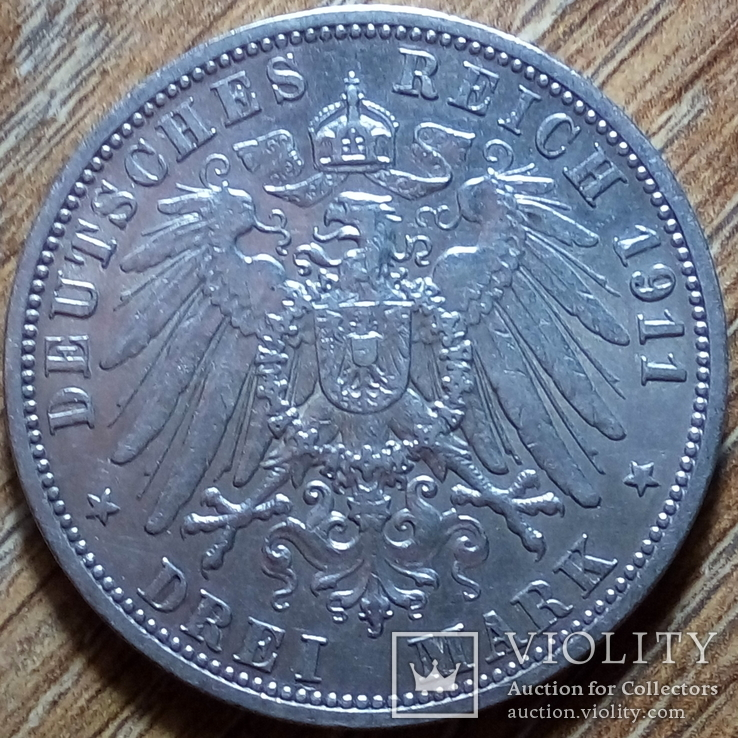 Анхальт 3 марки 1911 г., фото №3
