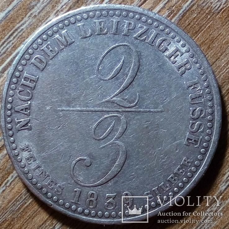Ганновер  2/3 талера 1839 г., фото №2